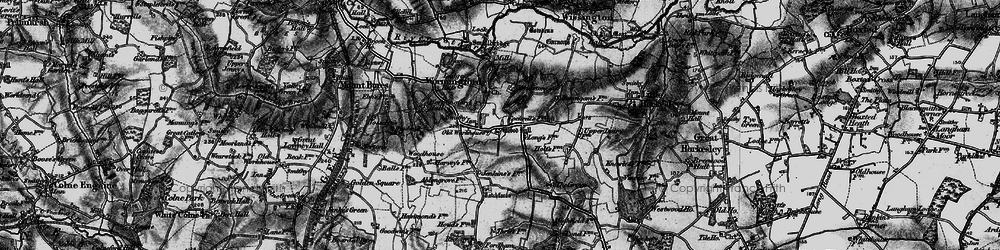 Old map of Wormingford in 1896