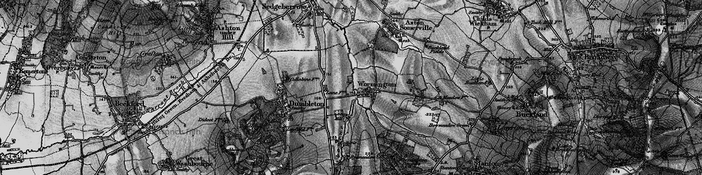 Old map of Wormington in 1898