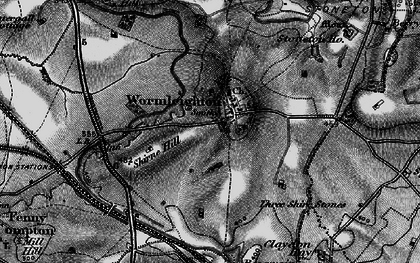 Old map of Wormleighton Village in 1896
