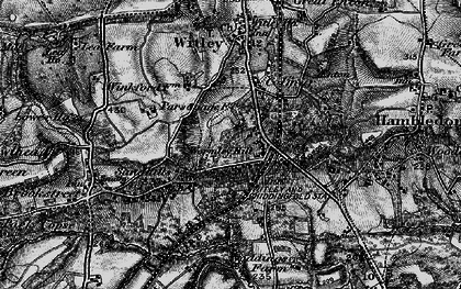 Old map of Wormley in 1896
