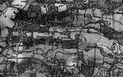 Old map of Westlea in 1896