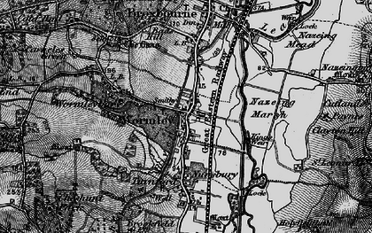 Old map of Baas Hill in 1896