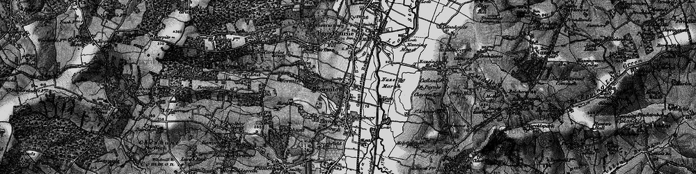 Old map of Wormleybury in 1896