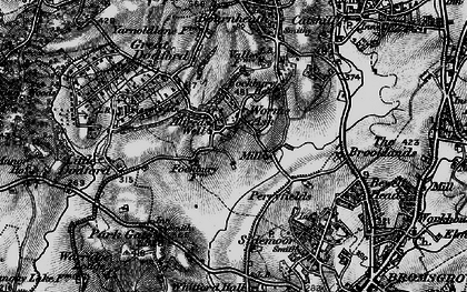 Old map of Worms Ash in 1898
