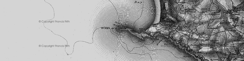 Old map of Worms Head in 1896