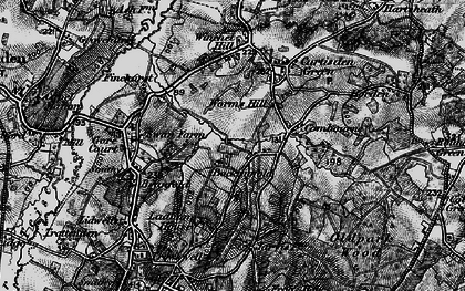Old map of Worms Hill in 1895