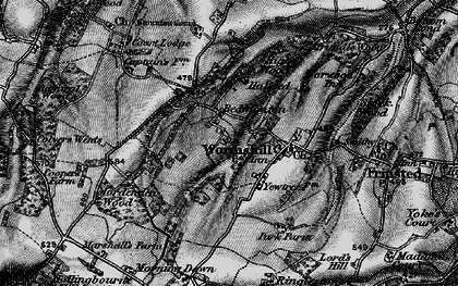 Old map of Wormshill in 1895