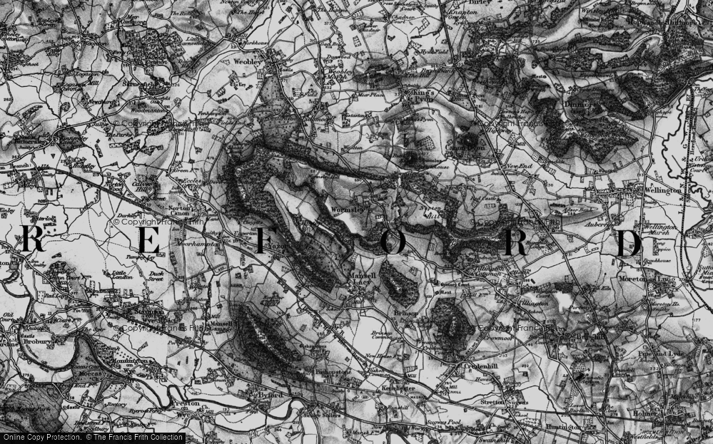 Old Map of Wormsley, 1898 in 1898