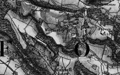 Old map of Wormsley Grange in 1898