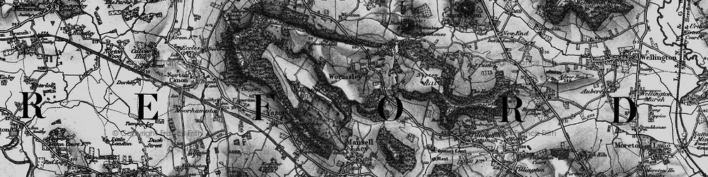 Old map of Wormsley in 1898