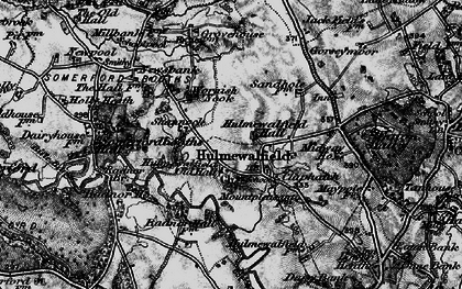 Old map of Wornish Nook in 1897
