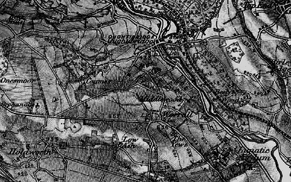 Old map of Worrall in 1896