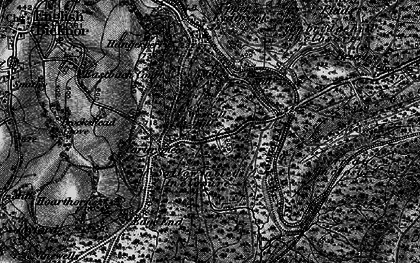 Old map of Worrall Hill in 1896