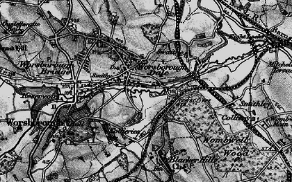 Old map of Worsbrough Dale in 1896