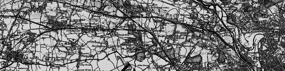 Old map of Worsley in 1896