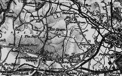 Old map of Worsley Hall in 1896
