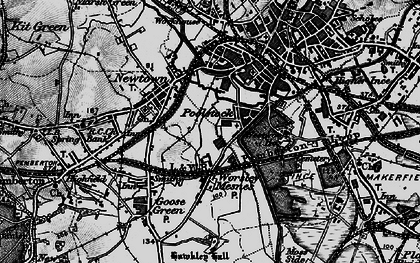 Old map of Worsley Mesnes in 1896