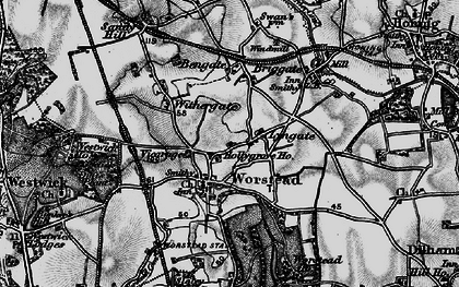 Old map of Worstead in 1898