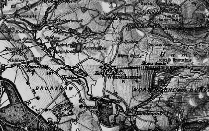 Old map of Worsthorne in 1896