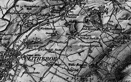 Old map of Barkerfield in 1898