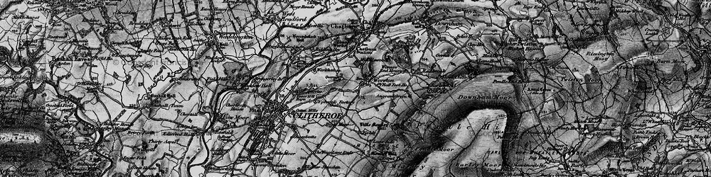 Old map of Worston in 1898