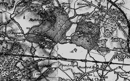 Old map of Worten in 1895