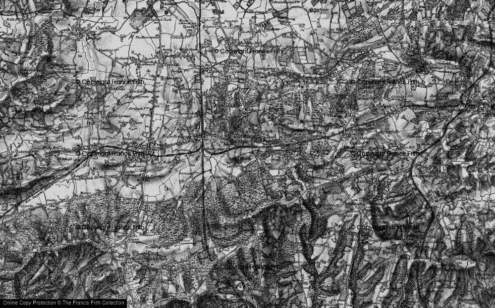Old Map of Worth, 1895 in 1895