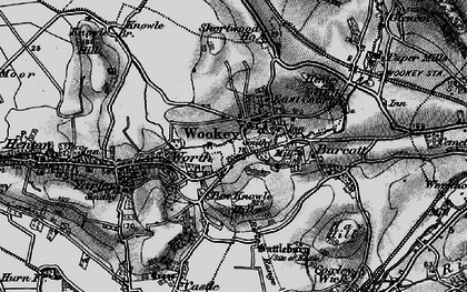Old map of Worth in 1898