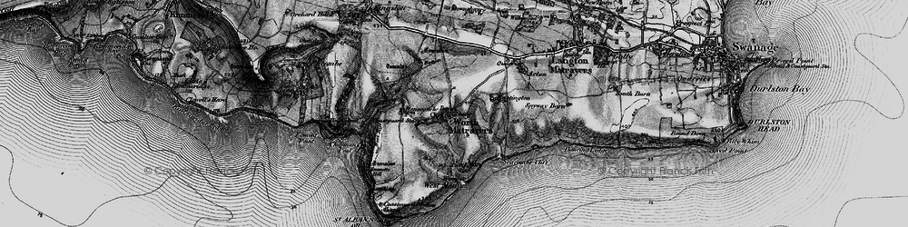 Old map of Worth Matravers in 1897