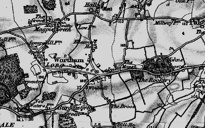 Old map of Wortham in 1898