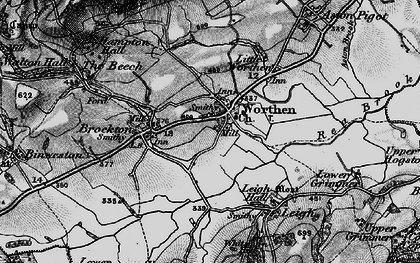 Old map of Worthen in 1899