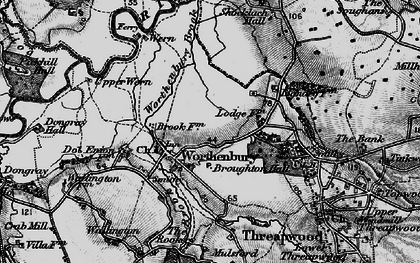 Old map of Worthenbury in 1897