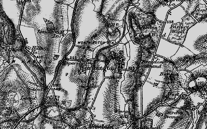 Old map of Worthington in 1895