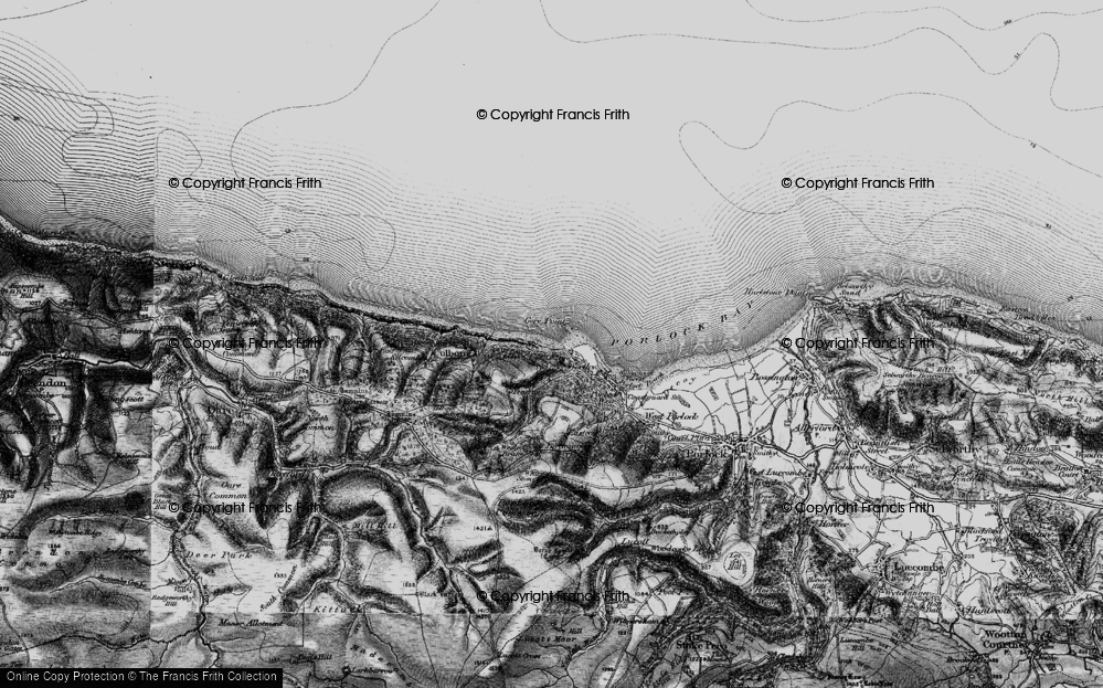 Old Map of Historic Map covering Yearnor Wood in 1898