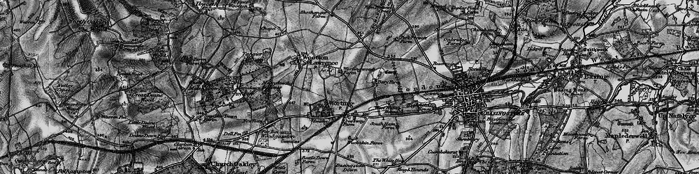 Old map of Worting in 1895