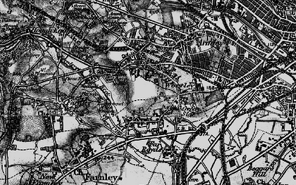 Old map of Wortley in 1896