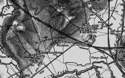 Old map of Worton in 1895