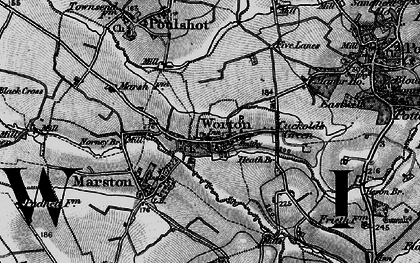 Old map of Worton in 1898
