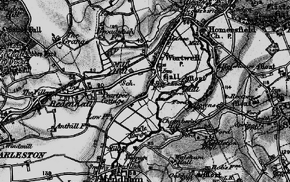 Old map of Wortwell in 1898
