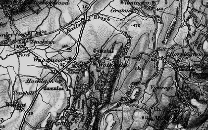 Old map of Woodmoor in 1899