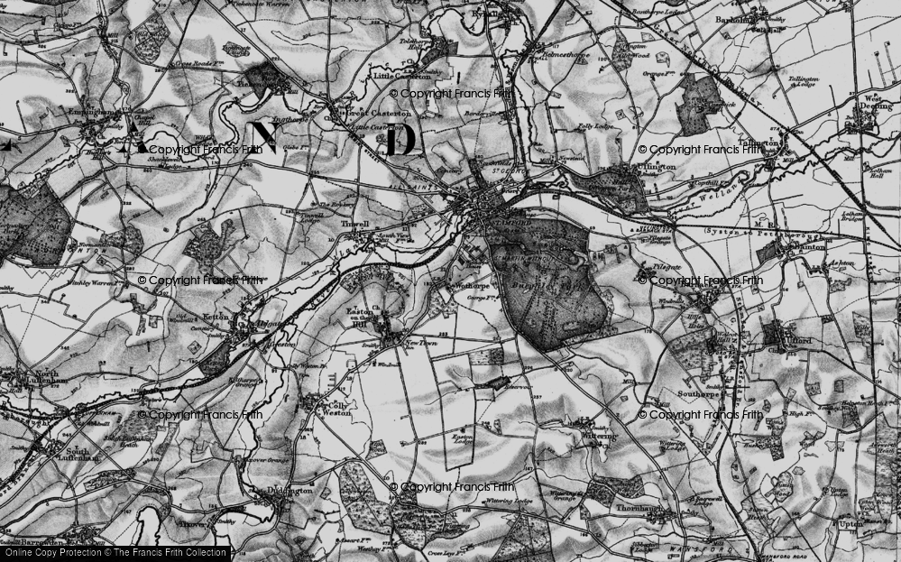 Old Map of Historic Map covering Wothorpe Ho in 1898