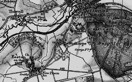 Old map of Wothorpe Ho in 1898