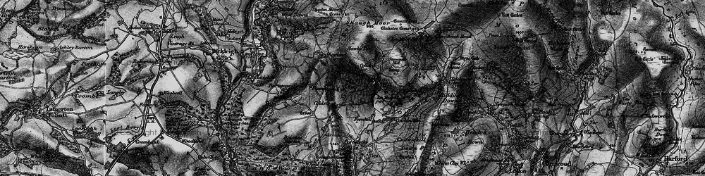 Old map of Wotter in 1898