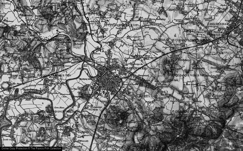 Old Map of Wotton, 1896 in 1896
