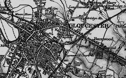 Old map of Wotton in 1896