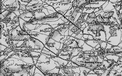 Old map of Wotton Cross in 1898