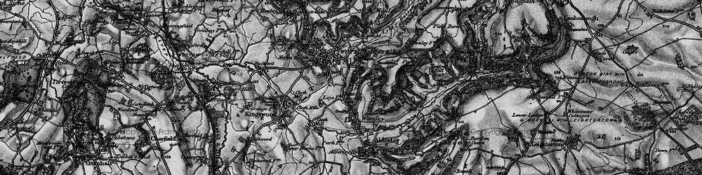 Old map of Wortley Hill in 1897