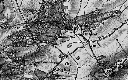 Old map of Wotton Ho in 1896