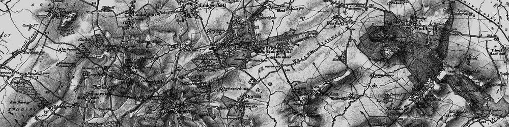 Old map of Wotton Underwood in 1896