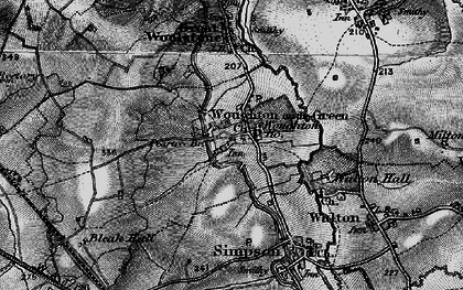 Old map of Woughton on the Green in 1896